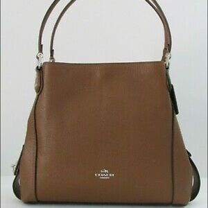 NEW Coach Edie 31 Brown Leather Tote